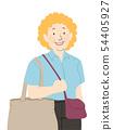 Senior Woman Shop Illustration 54405927