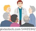 Seniors Citizen Doctor Talk Illustration 54405942