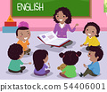 Stickman Kids Africa English Teacher Illustration 54406001