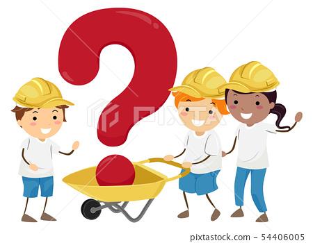 Stickman Kids Wheel Barrow Question Mark 54406005