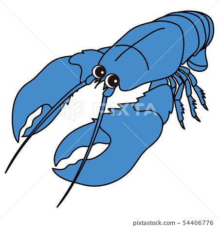 Lobster lobster omar shrimp character illustration vector 54406776
