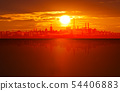 abstract background with sunset in Tallinn 54406883