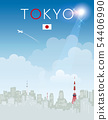 Design of the city visited for travel, Japanese fa 54406990