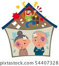 가정 폭력에 고민 노부부 54407328