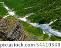 남 알프스 · 북악산 정상에서 내려다 대 樺沢의 雪渓와 부벽 54410349