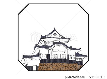 Binaka Matsuyama Castle 100著名的城堡插圖 54410816