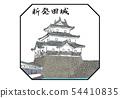 Shibata castle 100 famous castle illustrations 54410835