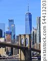 브루클린 브리지와 다운타운 54413203