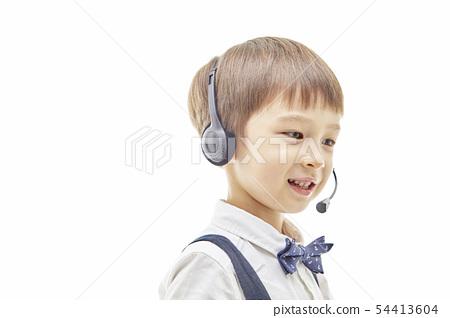 유아,어린이,키즈,텔레마케팅,텔레마케터,유튜버,비즈니스맨 54413604