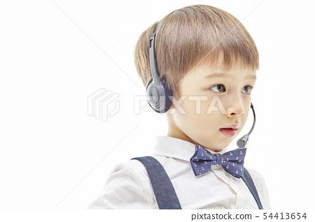 유아,어린이,키즈,텔레마케팅,텔레마케터,유튜버,비즈니스맨 54413654