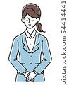 弓的西装的年轻女子(手绘风格) 54414441