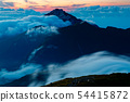 Kaikomagatake, a cloud of afterglows, seen from the Kitadake Pass Line 54415872