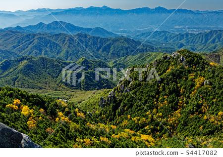 从Oku Chichibu和Dainichi岩石看秋天颜色的Tadami岩石和南阿尔卑斯山 54417082