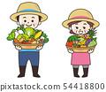 농가의 남녀와 수확물 54418800