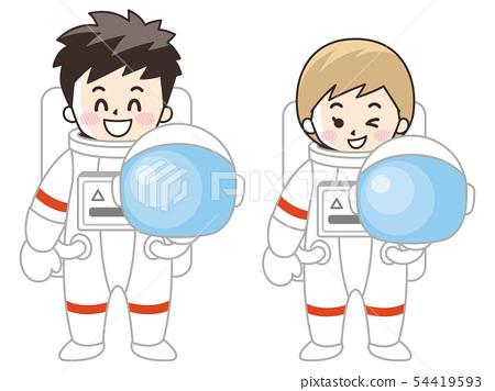 宇航員男女 54419593