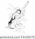 Ballerina. Dancer. Ballet. Graphics. Girl. Vector 54426570