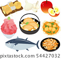 Stock Illustration: aomori, specialty products, gourmet icon set 54427032