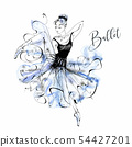 Ballerina. Ballet. Wilis. Dancing girl on Pointe 54427201