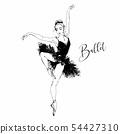 Ballerina. Black swan. Ballet. Dance. Vector 54427310