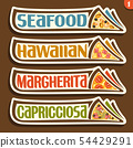 Vector labels for Pizza 54429291