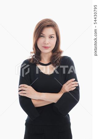 Lady in black dress 54430795