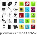 Making a movie black,flat icons in set collection for design. Attributes and Equipment vector symbol 54432657