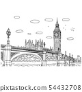 Big Ben in London vector illustration sketch 54432708