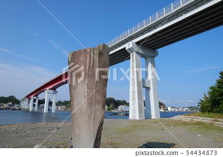 白川寺的白書詩歌紀念碑和Jogashima Ohashi Miura City 54434873