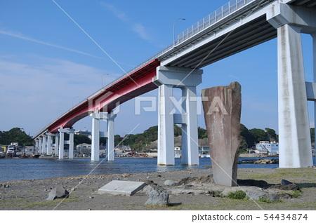 白川寺的白書詩歌紀念碑和Jogashima Ohashi Miura City 54434874