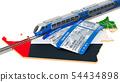 Rail travel in the United Arab Emirates, concept. 54434898