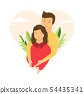 Portrait of young couple in love. Hugging people 54435341