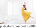 Female dancer isolated on white 54435800