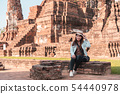 Asian woman tourist take image together with 54440978