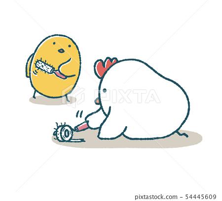 松雞和小雞捲膠輥 54445609