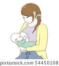母乳喂养的母亲和孩子 54450108