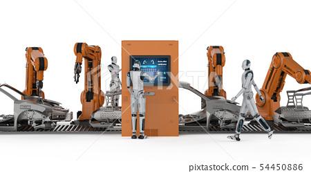 Automation aumobile factory concept 54450886