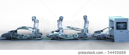 Automation aumobile factory concept 54450889