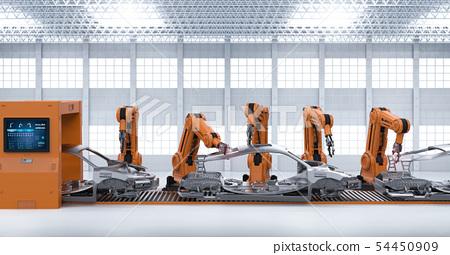 Automation aumobile factory concept 54450909