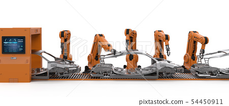 Automation aumobile factory concept 54450911
