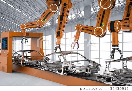 Automation aumobile factory concept 54450913