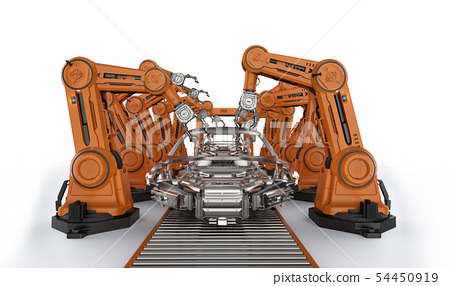 Automation aumobile factory concept 54450919