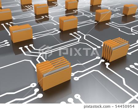 Data storage archive concept 54450954
