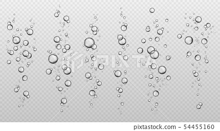 Water bubbles. Abstract fresh soda bubble groups. Effervescent oxygen texture. Underwater fizzing 54455160