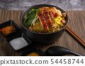 Spicy TOM YAM Pork Noodle Soup Thai Recipe. 54458744