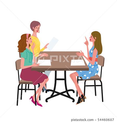 Women's illustration to discuss 54460687