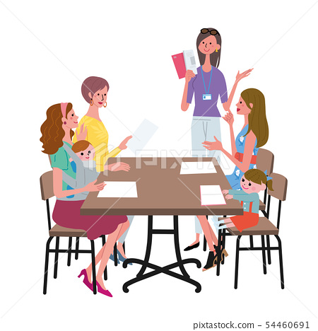 Women's illustration to discuss 54460691