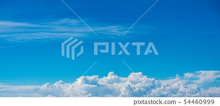 雲彩和藍天背景材料 54460999