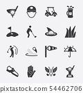 Golf silhouette icon 54462706