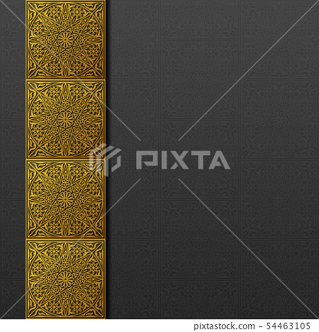 Background with traditional floral ornament 54463105