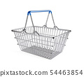 Wire shopping basket isolated white background 54463854